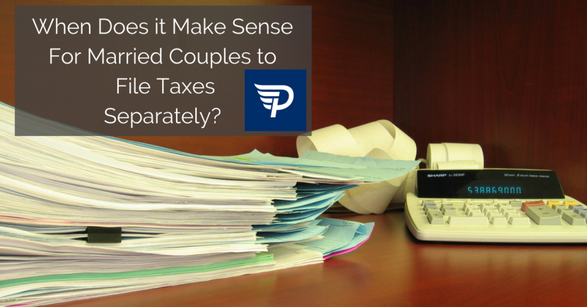 When Does It Make Sense For Married Couples to File Taxes Separately?